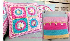 Crochet Pillow Granny Square Photo Tutorial 46 New Ideas Crochet Cushion Pattern, Crochet Cushions, Crochet Patterns, Crochet Stitches For Beginners, Basic Crochet Stitches, Crochet Baby Sandals, Crochet Bikini, Fingerless Gloves Crochet Pattern, Knitted Blankets