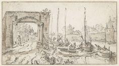 Gezicht op de stadsmuur van Utrecht, Herman Saftleven, 1619 - 1685