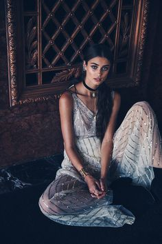 """Taylor Hill in Free People """"Moonlight Magic"""" by photographer Bjorn Iooss."""