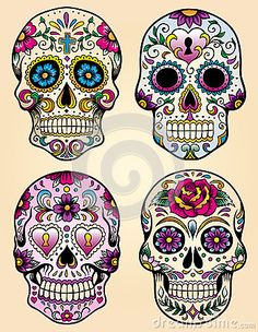 Day of the dead vector illustration set by Krookedeye, via Dreamstime
