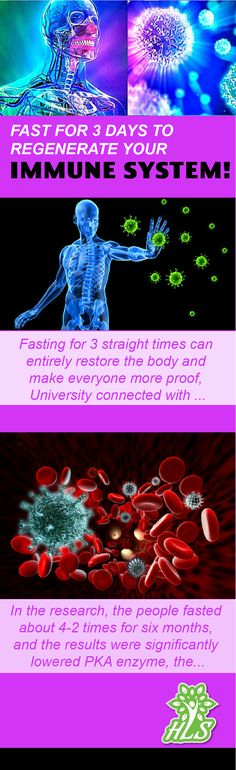 Fast For 3 Days To Regenerate Your Immune System! -
