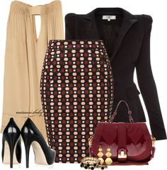 """""""Pencils & Pleats"""" by autumnsbaby on Polyvore"""