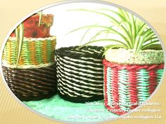 CANASTOS BICOLORES. Baskets two colors