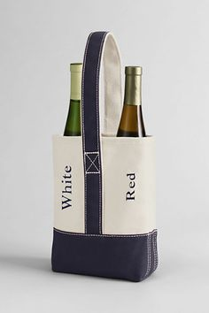 Double Canvas Wine Tote from Lands End