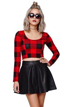 Gypsy Warrior Faux Leather Skater Skirt #gypsywarriorxpacsun #pacsun