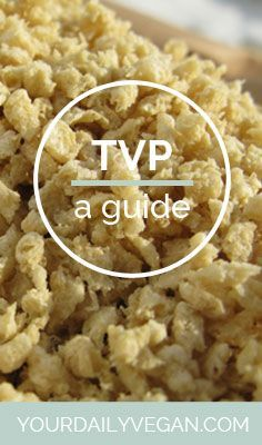 Learn How to Cook Textured Vegetable Protein (TVP) Our vegan textured vegetable protein guide shows you how easy it is find TVP with a shopping guide and some recipes to try at home. Tvp Recipes, Veggie Recipes, Whole Food Recipes, Vegetarian Recipes, Protein Foods, Vegan Foods, Vegan Dishes, Plant Protein, Vegan Meals