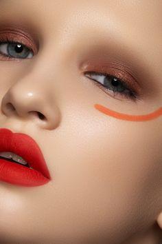 Photographer — Marina & Artem (www.photoma.ru),  make-up artist — Vera Shevi,  model — Svetlana Egorova at Chkalova Evgenia Model Agency  #fashion #beauty #makeup #red