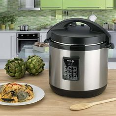 You literally may not use your pans or oven again with this amazing 3-1 cooker from Fagor. Easily cook up delicious meals and perfect rice—and quickly! This amazing electric cooker not only doubles as a slow cooker for stews and soups, but it's also a rice cooking, pressure-cooking wonder all in one.