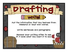pirate themed classroom | The Writing Process (5 Posters) - Pirate Theme - Rachael Parlett ... School Themes, Classroom Themes, School Ideas, Pirate Decor, Pirate Theme, Pirate Clip Art, Writing Process Posters, School Stuff, Back To School