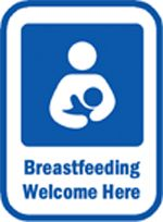 'Breastfeeding Welcome Here' poster download for your business or home via kellymom.com