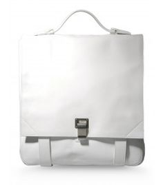 Proenza Schouler Large White Backpack - Shop more of the preppy trend at #ShopBAZAAR http://shop.harpersbazaar.com/trends/prep-school