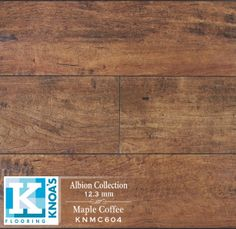 Knoa's Flooring - Maple Coffee - Hand scrapped with Embossed In Registration - Higher density than regular laminate planks - AC3 Class Anti-abrasion with Dual Moisture Shield™ - Micro-Beveled Edges - 5 layers printing technology for more variation - D.I.Y. Unilin Locking System - Closest luster and shine as real wood floors
