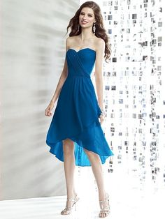 Social Bridesmaids Style 8138 in cerulean - Wedding Dresses by Dessy - Loverly