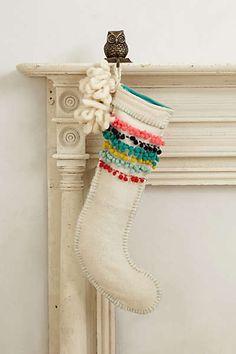 Anthropologie - Pom-Stitched Stocking