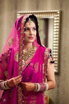 gorgeous wedding saree