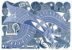 printmaking: linocuts by David Jones David Jones Artist, Linocut Prints, Art Prints, Block Prints, Linoleum Block Printing, Linoprint, Stamp Printing, Scratchboard, Arte Popular