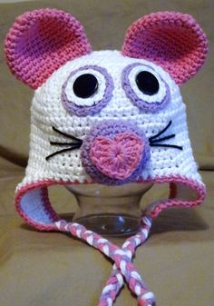 Valentines Mouse, crochet animal hat. $20.00, via Etsy.