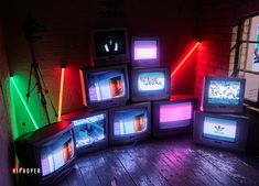 Artistic Installation, Tv Installation, Led Neon, Neon Aesthetic, Display Design, Stage Design, Experiential, Neon Lighting, Light Photography