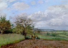 Landscape with a Cowherd 1872 by Camille Pissarro