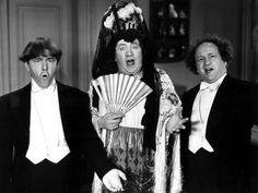 The Three Stooges, Microphonies, Moe Howard, Curly Howard, Larry Fine 1945 Premium Poster