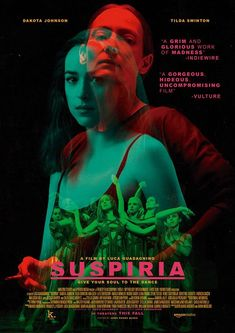 Movie poster for Suspiria version, with Tilda Swinton, Dakota Johnson and others, directed by Luca Guadagnino Horror Movie Posters, Cinema Posters, Horror Movies, Cool Movie Posters, Comedy Movies, Film Poster Design, Movie Poster Art, Poster S, Tilda Swinton