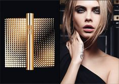 Cara Delevingne for YSL Beauty - love her make up