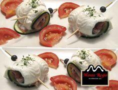 Rollitos de lenguado con calabacín, tomate y jamón serrano #MonteRegio ¡el mejor aperitivo del mundo!