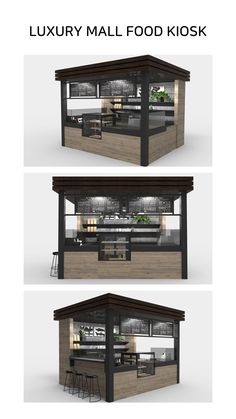 If you planning to open a Food/Coffee kiosk in the mall or mobile portable ca. Cafe Shop Design, Coffee Shop Interior Design, Kiosk Design, Store Design, Signage Design, Deco Restaurant, Outdoor Restaurant, Restaurant Design, Container Cafe