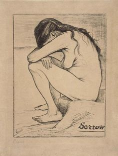 Sorrow The Hague, November 1882 Vincent van Gogh (1853 - 1890) lithography, 38.9 cm x 29.2 cm Van Gogh Museum, Amsterdam (Vincent van Gogh Foundation)