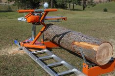 The patented Norwood PortaMill quickly converts your own chainsaw and a ladder into a small portable sawmill for logs up to in diameter. Homemade Chainsaw Mill, Portable Chainsaw Mill, Portable Saw Mill, Homemade Bandsaw Mill, Lumber Mill, Wood Mill, Saw Mill Diy, Airsoft Girls, Chainsaw Mill Plans