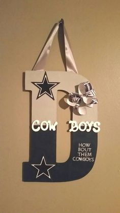 Dallas Cowboys wooden letter by CustomLettersForYou on Etsy - Wood Letters Dallas Cowboys Crafts, Dallas Cowboys Wreath, Dallas Cowboys Baby, Cowboys 4, Dallas Cowboys Football, Cowboys Gifts, Dallas Texas, Football Fans, Cowboy Crafts