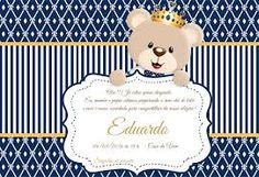 Image result for tarjeta de invitacion osito principe