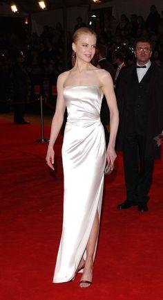 Nicole wearing a satin strapless dress at the Orange British Academy Film Awards in 2003.