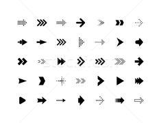 Arrow sign vector icons set stock photo (c) sidmay ( Signage Design, Branding Design, Logo Design, Arrow Signage, Cute Arrow, Navigation Design, Sign System, Finance Logo, 1 Tattoo