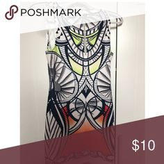 Printed Mini Dress Fun printed mini dress from Mystique Boutique. Only worn once, in perfect condition. Great for vacation or a girls night out! Dresses Mini