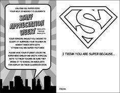 "Superhero Staff Appreciation Week - ""I Think You Are Super"" Printable"