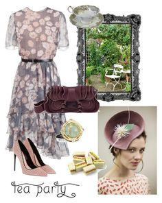 """Yes to Biscuits!"" by reefcrush on Polyvore featuring Maggie Mowbray Millinery, Jason Wu, Fendi, Armenta and londonthenglasgow"