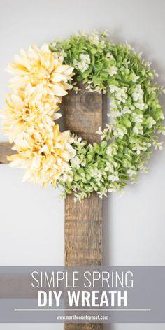 Friday Fluff Up  Dollar Tree Spring Wreath  Wreaths Craft
