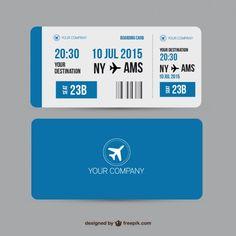 Boarding pass Premium Vector