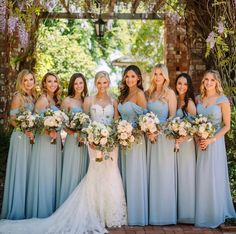 Convertible Bridesmaid Dress in chiffon fabric. From Blush Bridesmaid Dress to a Black Bridesmaid dress the Kennedy is perfect for weddings or receptions. Fall in love with it's classic silhouette and lightweight fabric. Blush Bridesmaid Dresses, Blue Bridesmaids, Wedding Bridesmaids, Prom Dresses, Formal Dresses, Bridesmaid Outfit, Cute Wedding Ideas, Trendy Wedding, Unique Weddings