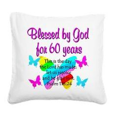 Lovely butterfly spiritual and Christian design on Happy 60th birthday Tees and gifts from www.cafepress.com/jlporiginals ##60thbirthday #Happy60th #60yearsold #60thbirthdaygift #60thparty #turning60 #60thprayer #60thblessing #Christian60th