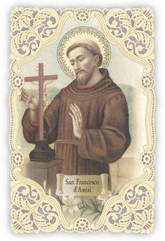 13 St Francisco, Vintage Holy Cards, Saint Francis, Religious Quotes, Laser Cutting, Catholic, Entertainment, Faith, Antiques