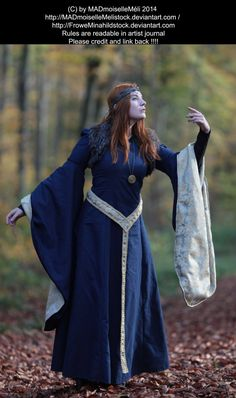 Blue Medieval Dress Lady Stock 001 by MADmoiselleMeliStock on deviantART