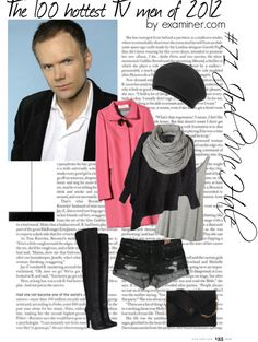"""The 100 hottest TV men of 2012 by examiner.com - #71, Joel McHale [Community]"" by miky94 ❤ liked on Polyvore"