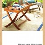 portable table tray woodworking plans free