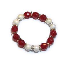 Armband Ruby | Rode Collectie www.beadscreations.nl