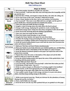 Reiki Tips Cheat Sheet