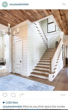 Shiplap walls and ceiling