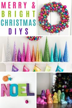 Colorful DIY Christmas Decorations - Merry & Bright!