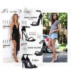 MIDWEEK MARVEL Strappy ankle sandals by btmgts on Polyvore featuring Yves Saint Laurent, Stuart Weitzman, River Island and Zara  www.btmgts.co.uk/life